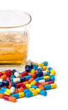Mixing Drugs and Alcohol Stock Photos