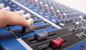 Mixing Faders Royalty Free Stock Image
