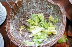 Mixing fresh salad Stock Photos