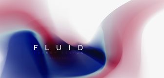Mixing liquid color flow abstract background. Trendy abstract layout template for business or technology presentation. Internet poster or web brochure cover stock illustration