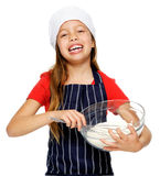 Mixing little chef Stock Photo