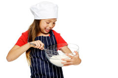 Mixing little chef Royalty Free Stock Photo