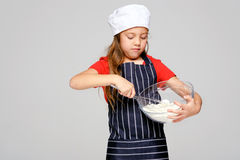 Mixing little chef Royalty Free Stock Images