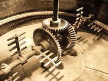 Mixing machinery in old mash tank Stock Photos