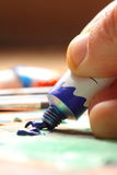 Mixing oil paint B Stock Images