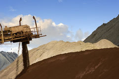 Mixing ore stock photography