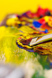 Mixing paint Royalty Free Stock Images