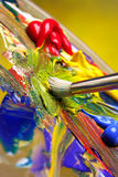 Mixing paint royalty free stock photography