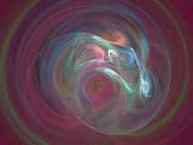 Mixing paint. 3D rendering with great depth and coloring, best viewed full size Stock Image