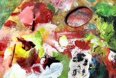 Mixing painting stock photos