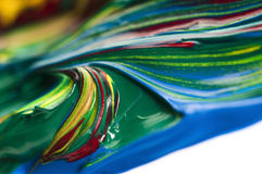 Mixing paints. background Royalty Free Stock Photos