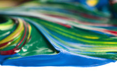 Mixing paints. background Stock Photography