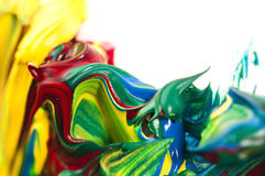 Mixing paints. background Royalty Free Stock Image