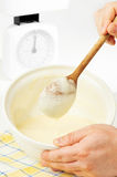 Mixing Pancake Batter Stock Images