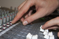Mixing panel Stock Image