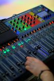 Mixing panel Royalty Free Stock Image