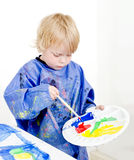 Mixing poster paint royalty free stock photos