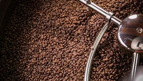 Mixing roasted coffee stock video footage
