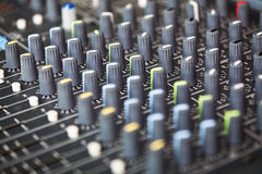 Mixing soundboard Royalty Free Stock Photography