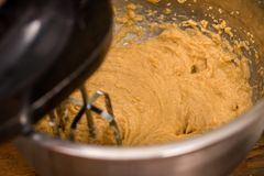 Mixing the Cookie Dough. Mixing up the cookie dough Stock Photography