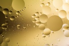 Mixing water and oil, beautiful color abstract background based on circles and ovals. A combination of oil and water, a fantastic abstract macro background with Stock Photos