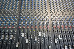 Mixingdesk pattern Royalty Free Stock Images