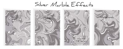 Mixture of acrylic paints. Liquid marble texture vector illustration