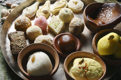 Mixture of all Indian sweets Stock Photo