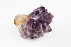 Mixture of Amethyst and Citrine in the rough.  Stock Image