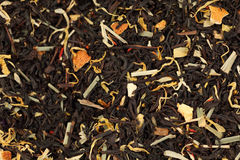 A mixture of black tea and herb. Stock Photos