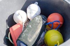 Mixture of buoys Stock Photography