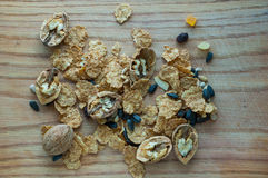 Mixture of cereals and cereal Royalty Free Stock Photography