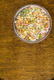 Mixture of cereals, peas, lentils, rice, barley Stock Photography