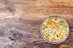 Mixture of cereals, peas, lentils, rice, barley Stock Images