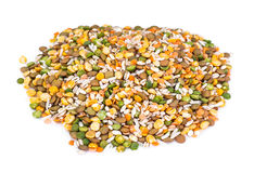 Mixture of cereals, peas, lentils, rice, barley Royalty Free Stock Image