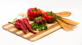 Mixture of chilli and sweet pepper Royalty Free Stock Images