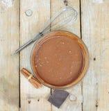 Mixture for chocolate cake Stock Photo
