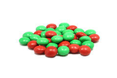 A mixture of chocolates in a colored glaze Royalty Free Stock Photography