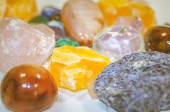 Mix of colorful gem stones. Mixture of colorful gem stones Stock Photos