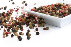 Mixture of colorful peppercorns Royalty Free Stock Image