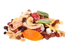 Mixture of dried fruit Stock Images