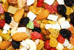 A mixture of dried fruits Stock Image