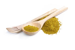 Mixture of dried ground spices with turmeric Royalty Free Stock Images