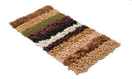 Mixture of dried lentils, peas, soybeans, beans Royalty Free Stock Photo