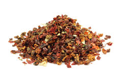 A mixture of dried vegetables and spices Royalty Free Stock Photography