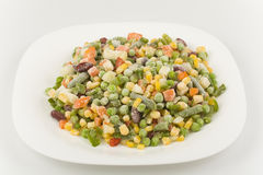 Mixture of fresh-frozen vegetables Royalty Free Stock Photography