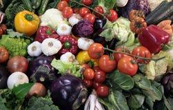 Mixture of fresh vegetable fruit Stock Image