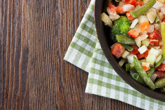 Mixture frozen vegetables Royalty Free Stock Images