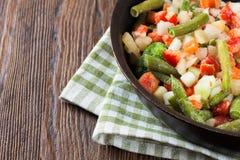 Mixture frozen vegetables Royalty Free Stock Photo