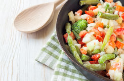 Mixture frozen vegetables Royalty Free Stock Photos